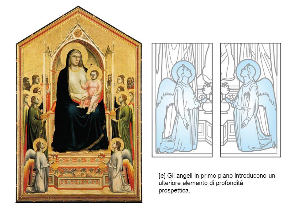 [e] Gli angeli in primo piano introducono un ulteriore elemento di profondità prospettica.
